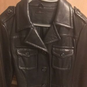 Wilson's leather long leather coat size small